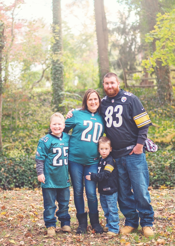 Half Steelers fans.. Half Eagles.. I can't imagine a Sunday when they play against each other!